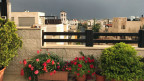 Aussicht von der Dachterrasse: Amman, Jordanien.