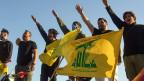 Unterstützer der libanesischen Schiitenbewegung Hisbollah im südlibanesischen Bezirk Marjayoun an der Grenze zu Israel.