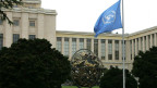 Das UNO-Hauptgebäude in Genf.