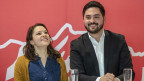 Die Kandidaten für die SP-Präsidentschaftswahlen: Cedric Wermuth (rechts), und Mattea Meyer.