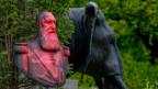 Statue des ehemaligen belgischen Königs Leopold II., der in Kongo eine Kolonie errichtete.