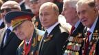 Präsident Putin bei den Feierlichkeiten zum Ende des Zweiten Weltkriegs vor 75 Jahren.