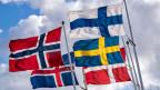 Die norwegische, isländische, finnische, schwedische und die dänische Flagge.