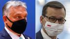 Die Ministerpräsidenten von Ungarn und Polen, Viktor Orban (links) und Mateusz Morawiecki leisten Widerstand gegen die Koppelung von EU-Geldern an die Rechtsstaatlichkeit.