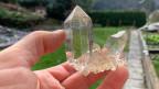 Ein Kristall aus der Kluft am Grimsel. Bild: zvg/KWO/Walter von Weissenfluh.