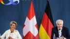 Bundesrätin Karin Keller-Sutter zu Besuch beim deutschen Bundesinnenminister Horst Seehofer.