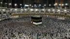 Die Kaaba in Mekka, Saudi-Arabien.