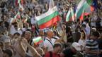 Demonstration in der Innenstadt von Sofia, Bulgarien.