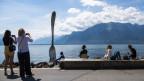 Am Ufer des Genfersees bei Vevey.