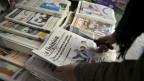 Zeitungskiosk in Madrid: Italienische Zeitungen berichten vor allem über inländische Themen, während sich spanische Zeitungen auch stark der internationalen Politik widmen.