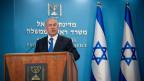 Israels Premierminister Benjamin Netanjahu informiert über das Friedensabkommen zwischen Israel und den Vereinigten Arabischen Emiraten am 13. August 2020.