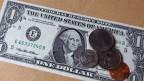 Symbolbild. Amerikanisches Geld.