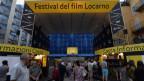 Eingang zum Filmfestival Locarno auf der Piazza Grande.