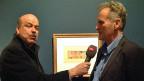 Urs Siegrist, Tagesgesprächs-Redaktor und Michael Baumgartner, Ausstellungs-Kurator auf «Tunisreise» im Zentrum Paul Klee.
