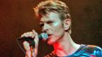 Der verstorbene Popmusiker David Bowie 1996 an einem Konzert in Hartford, Connecticut.