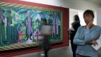 Ernst Ludwig Kirchner: Alpsonntag. Szene am Brunnen, 1923-1925. Das Bild ist Teil der neuen Ausstellung «Moderne Meister – entartete Kunst»  im Kunstmuseum Bern.