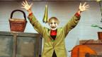 Clown Dimitri bei einer Aufführung im Theater am Hechtplatz in Zürich im Jahr 2003