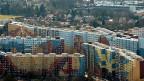 Luftaufnahme der Genfer Wohnsiedlung Avanchets; nur eine von vielen Möglichkeiten, verdichtet zu bauen.