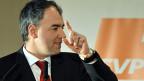 CVP-Parteipräsident Christophe Darbellay nimmt Stellung zu den Wahlverlusten der C-Parteien im Wallis.