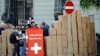 Übergabe der Unterschriften an die Bundeskanzlei am 7. Juli 2011 in Bern.