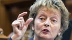 Bundesrätin Eveline Widmer-Schlumpf. Sie präsentiert eine Lösungsmöglichkeit im Steuerstreit mit der EU.