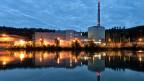 Blick auf das Atomkraftwerk Mühleberg.