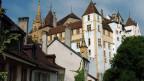 Sicht auf Schloss Neuchâtel.
