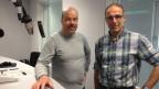 Alpinjournalist Daniel Anker (rechts) im Gespräch mit Urs Siegrist.