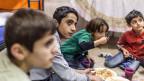 Essen im Asylzentrum in Enggistein bei Worb, in der Nähe von Bern.