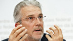 Raffael Corazza an der Jahreskonferenz der Weko am 29. April in Bern.