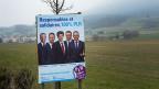 Wahlplakat der Freisinnigen im Kanton Neuenburg. Der Erfolg blieb der Partei versagt.