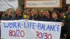 Der «Trauermarsch» der Freiburger-LehrerInnen am 1. Mai.