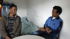Junge Asylsuchende aus Eritrea; viele von ihnen flüchten aus ihrem Land wegen der Militärdienstpflicht - die bis zu zehn Jahren dauern kann.
