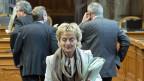 Bundesrätin Eveline Widmer-Schlumpf nach der Ständeratsdebatte zur «Lex USA».