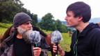 Jean-Pierre Rochat mit SRF-Inlandredaktor Dominik Meier.
