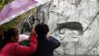 Chinesische Touristen in Luzern.