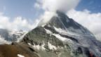 Felsabbruch am Matterhorn am 16. Juli 2003.