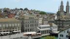 Immer mehr Büros im Zentrum von Zürich stehen leer. Bild: Blick auf die Zürcher Altstadt.