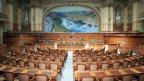 Der Bundesrat hat eine grosse Aufgabe vor sich. Er muss zuerst die Parteien überzeugen. Bild. Nationalratssaal im Bundeshaus.