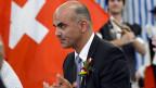 Bundesrat Alain Berset am 1. August 2013 in Moudon. «Wir sind ja momentan nicht von Feinden umzingelt», sagte er in seiner Rede.