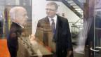 Bundespräsident Ueli Maurer und Markus Seiler, Direktor des Nachrichtendienstes des Bundes.