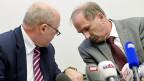 Medienkonferenz zum Bericht der Zürcher Oberjugendanwaltschaft zum Fall «Carlos»: Oberjugendanwalt Marcel Riesen und Justizdirektor Martin Graf.