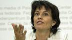 Energieministerin Doris Leuthard an der Medienkonferenz zu den «Energiestrategien 2050».