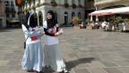 Zwei Mitglieder des Islamischen Zentralrats der Schweiz am 18. September in Lugano.