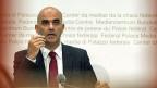 Gesundheitsminister Alain Berset informiert am 26. September in Bern über die Krankenkassenprämien 2014.