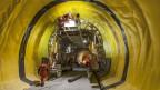 Der Ceneri-Basis-Tunnel, ein wichtiger Teil der Neat, kann vorläufig nicht weiter ausgebaut werden. Bild: NEAT Basistunnel am Monte Ceneri im Kanton Tessin.