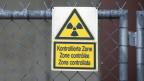 Ist die Sicherheit bei Kernkraftwerken verhandelbar ? Ein Warnschild für Radioaktivität im AKW Mühleberg.