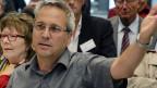Kaspar Schuler, Co - Geschäftsleiter Greenpeace Schweiz am Forum des ENSI (Eidgenössiches Nuklearsicherheitsinspektorat) in Brugg, am 4. September 2012.