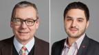 Ruedi Noser, Nationalrat der FDP des Kantons Zürich (links) und Portrait von Cedric Wermuth, Nationalrat der SP des Kantons Aargau.