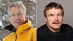 Jürg Schweizer, SLF-Leiter (links) und Hansueli Rhyner, Bergführer und Leiter der Forschungsgruppe Industrieprojekte und Schneesport.
